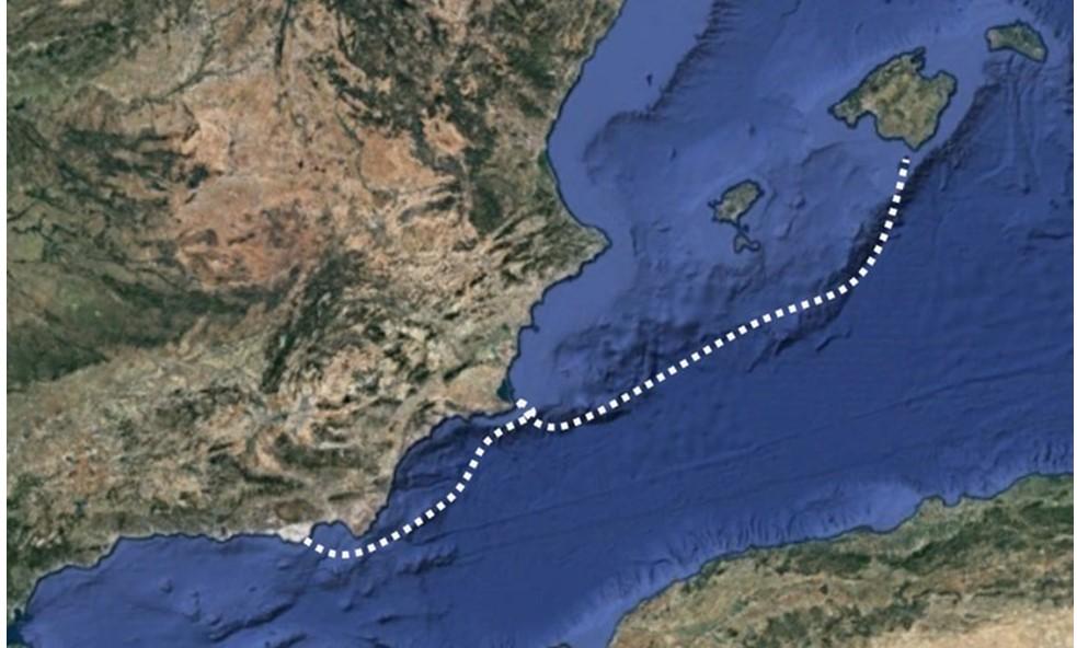 Ruta de Almería a Mallorca