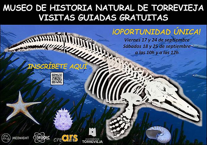 El Museo de Historia Natural de Torrevieja se abre en torno a la Noche Europea de los Investigadores